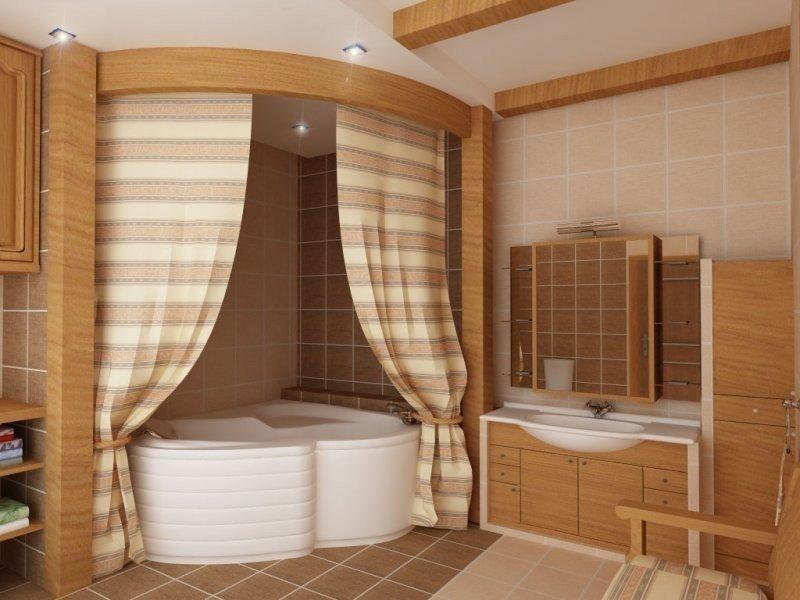 Ванная комната в деревянном доме как сделать