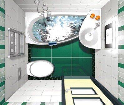Фотография небольшой ванной