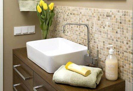 Этапы укладки мозаики для ванной комнаты