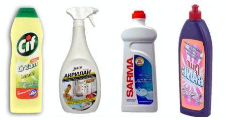 Выбираем средство для мытья и чистки акриловых ванн, которые наиболее подходят для данного процесса