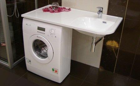 Установка стиральной машины в ванной комнате своими руками