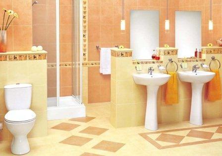 Керамическая плитка в ванной - отличный вариант для помещения любого размера