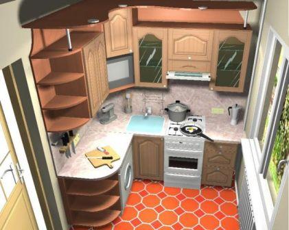 Организация пространства компактной кухни