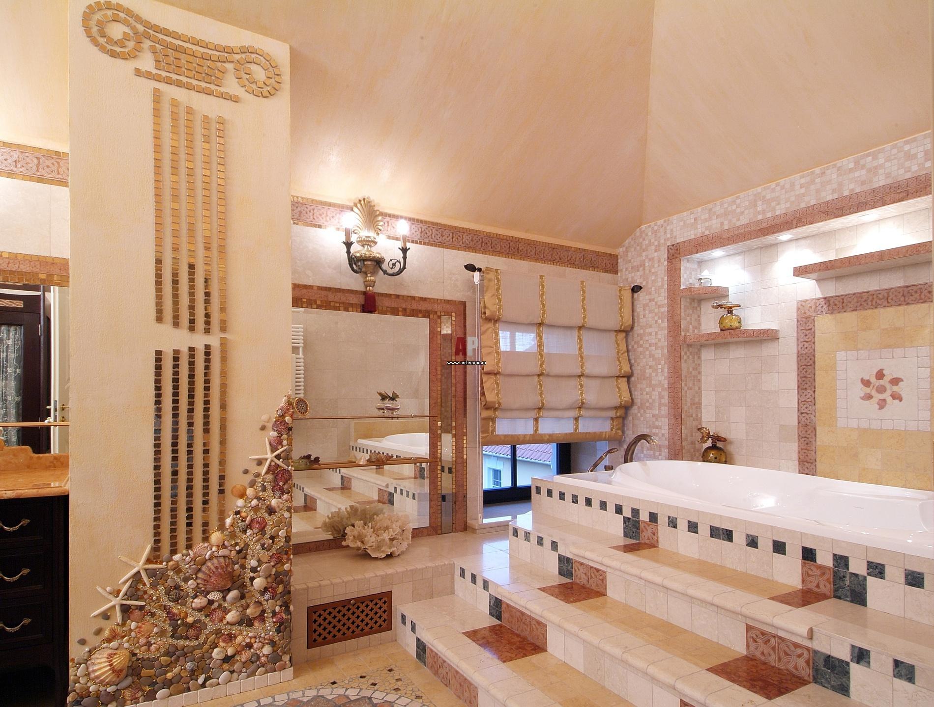 Ванная в греческом стиле