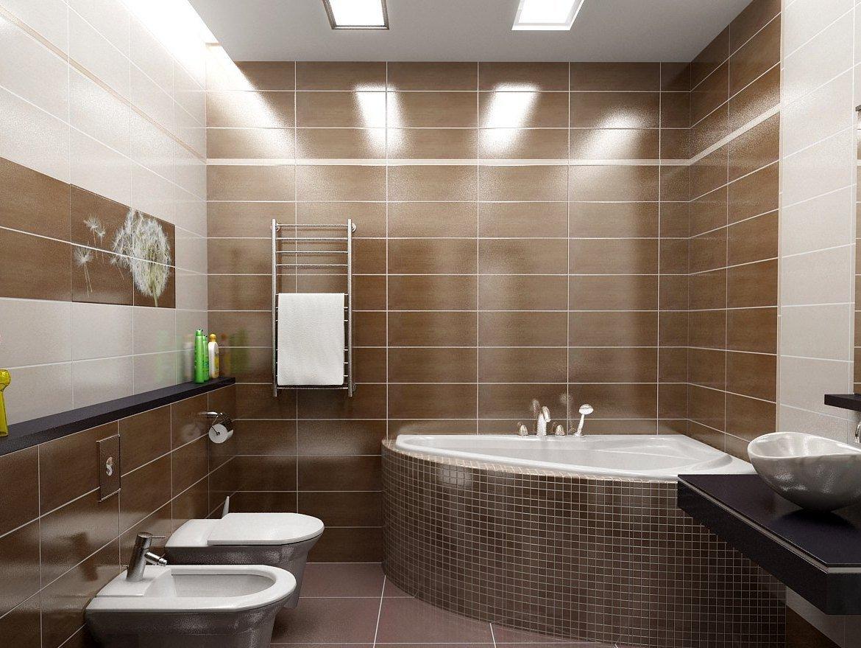 Современный дизайн ванны, совмещенной с туалетом