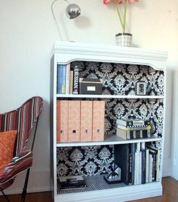использование остатков обоев для мебели