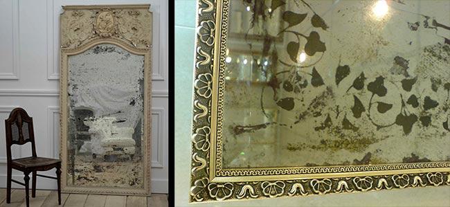 Трафаретная роспись зеркала