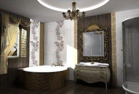 Классический стиль для ванной комнаты