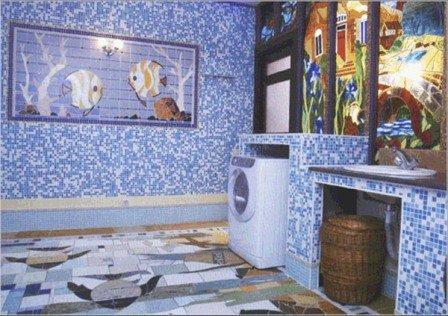 Плюсы мозаики для ванной комнаты