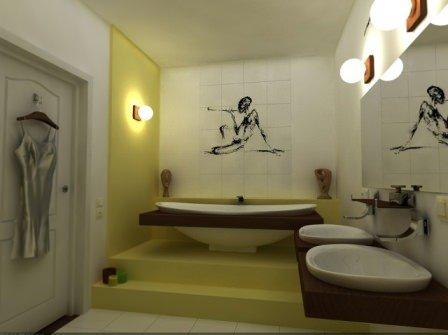 Оригинальный и неповторимый дизайн ванной комнаты