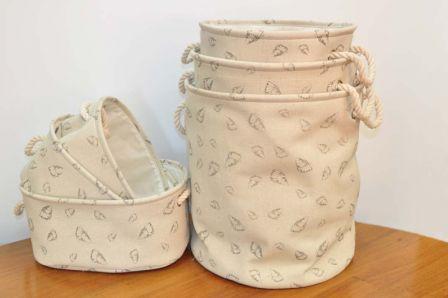 Тканевые корзины для белья в ванную комнату