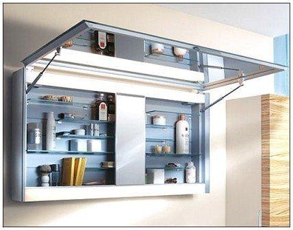 Навесной шкаф для ванной - отличное решение проблемы размещения вещей в ванной