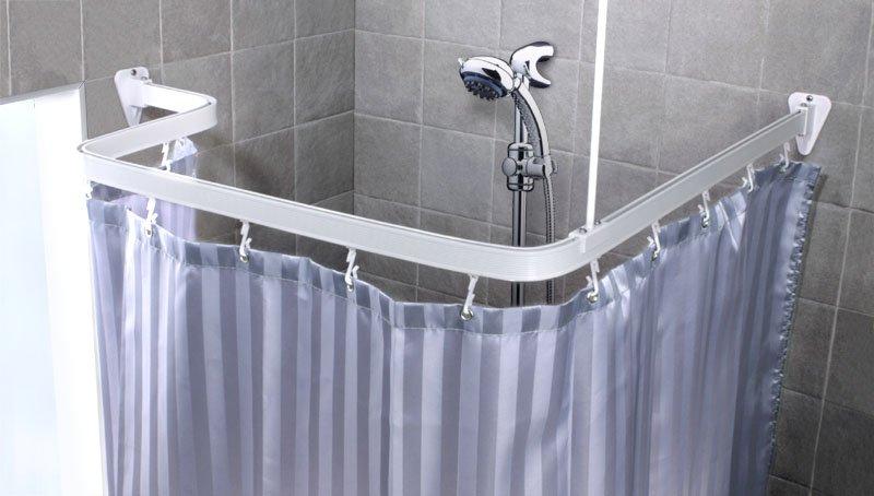 Асиметричный карниз для ванной