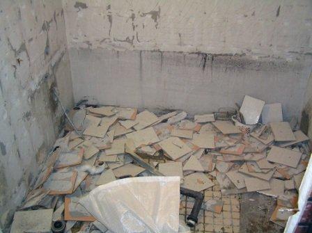 Подготовка, уборка и демонтаж ванной комнаты