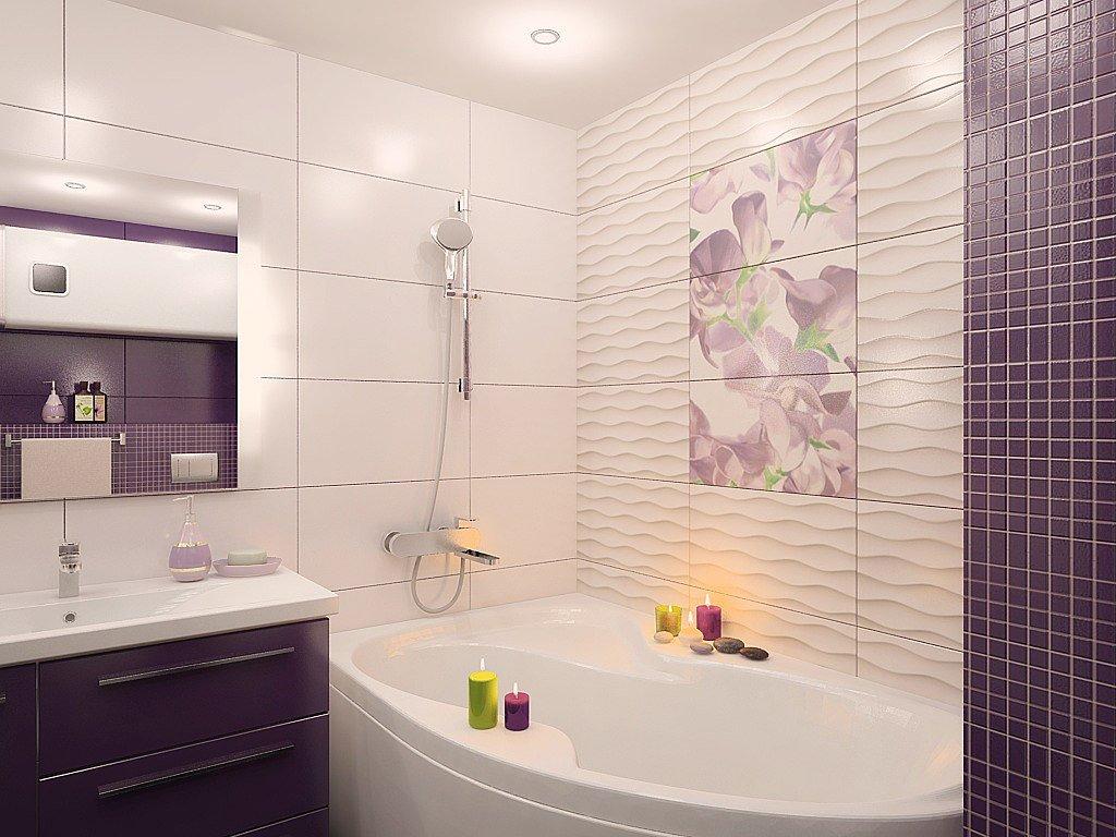 Сидячая ванна в интерьере ванной комнаты