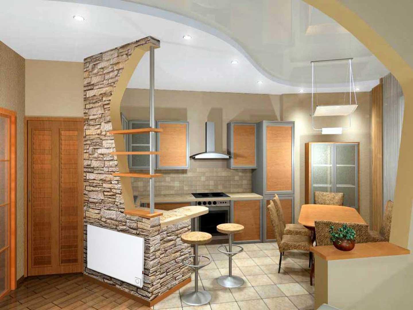 Как создать качественный интерьер кухни-студии