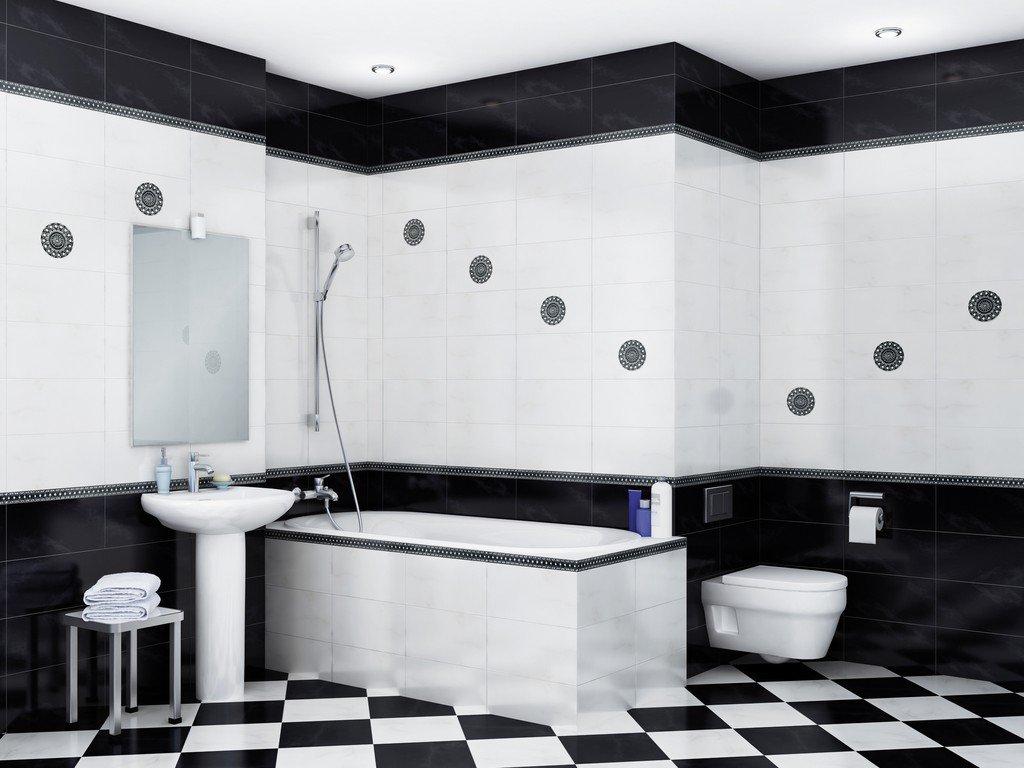 Керамическая плитка для ванной: дизайн, укладка, выбор производителя