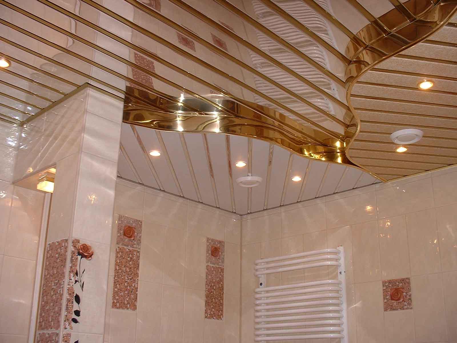 Практичность подвесных потолков для ванной