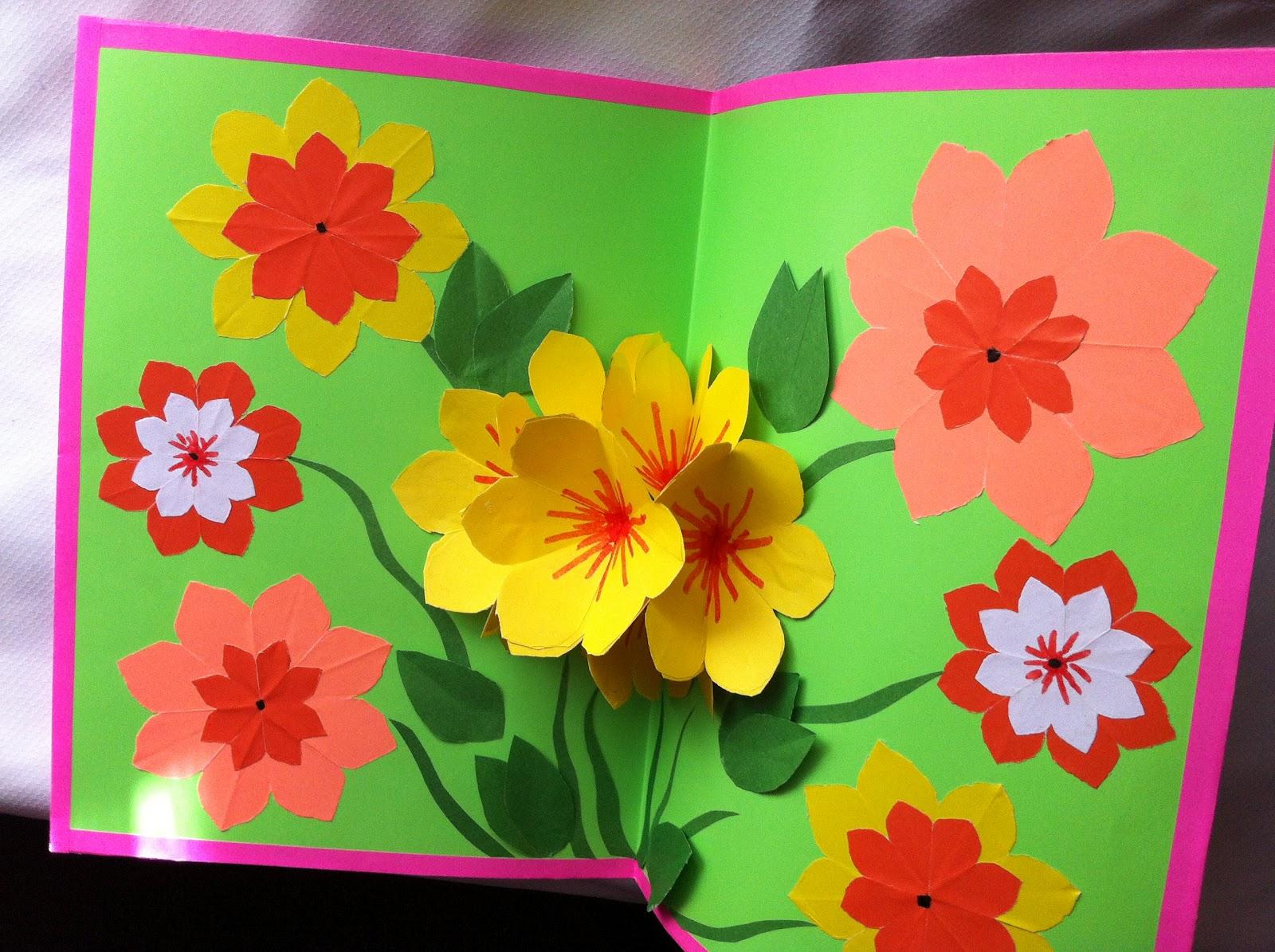 Красивая открытка ко дню мамы своими руками