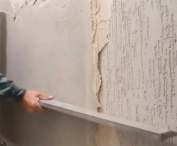 Выравнивание поверхности стены правилом