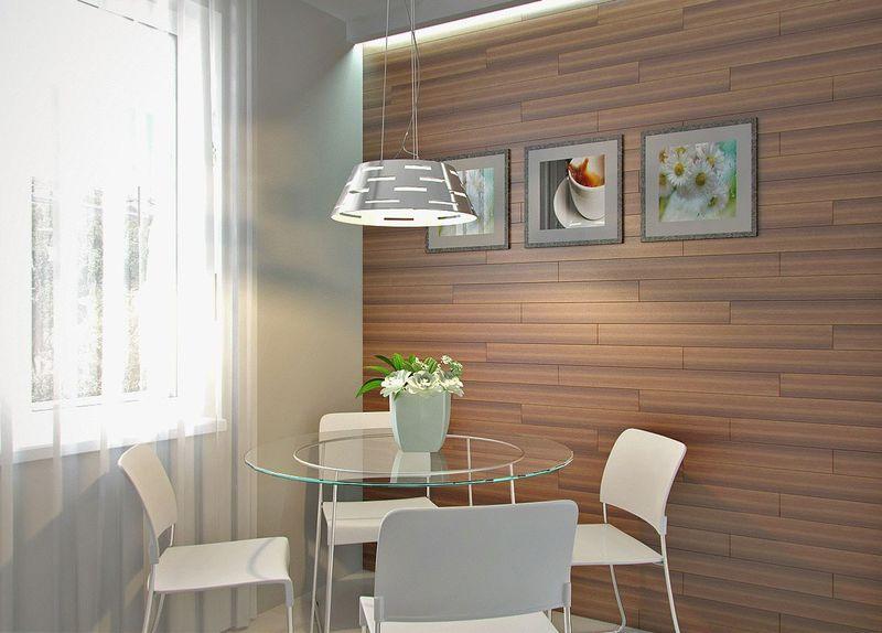 Ламинат на стену для кухни