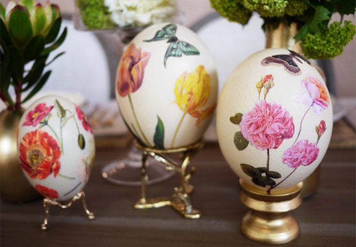 Яйца к Пасхе с декупажем