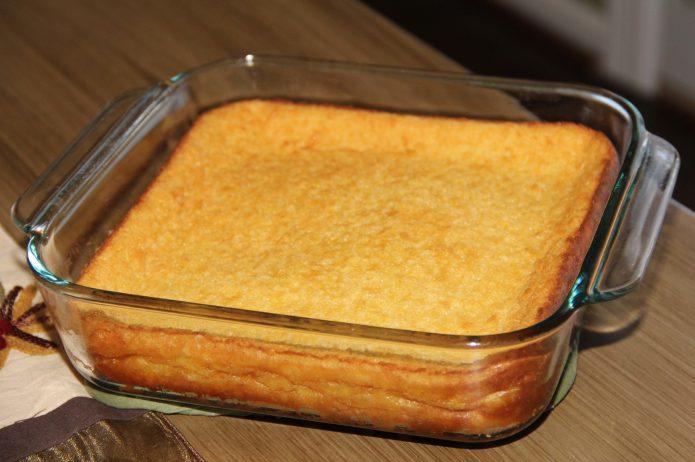 Пирог в форме для микроволновки