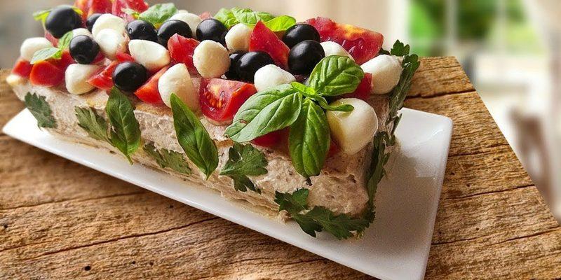 Фото шведского бутербродного торта