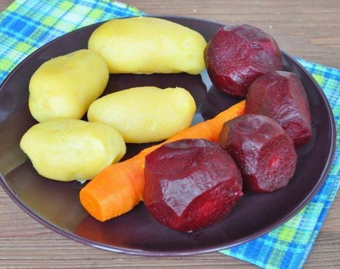 варёные овощи